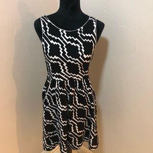 Anthropologie Postmark Dress Black and White
